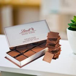 Luxurious Lindt Swiss Milk Thin Chocolates to Bolpur