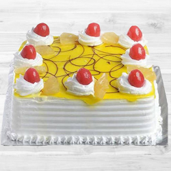 Tasty Eggless Pineapple cake to Belapur