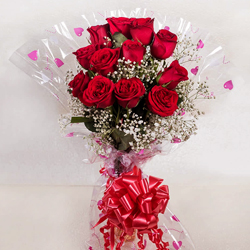 Glorious Dreams of Joy Red Roses Bunch to Baghalkot