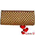 Classy Golden Evening Clutch