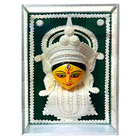 Auspicious Teracotta and Thermacol made Maa Durga in a Glass Frame to Madhyamgram