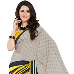 Send Outstanding Multicolor Faux Georgette Saree to India