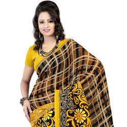 Send Smart Faux Georgette Printed Saree to India