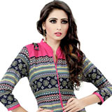 Send Ruched Cotton Printed Kurti to India