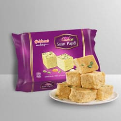 Soan Papdi from Haldiram to Bolpur