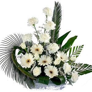 Special Arrangement of White Flowers to India.