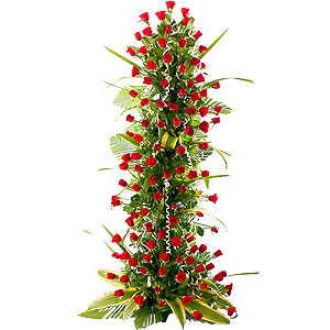 Fragrant Forever in Love 100 Red Roses Arrangement 3 - 4 ft High