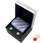 Comforting Set of Tie and Cufflink with free Roli Tilak and Chawal