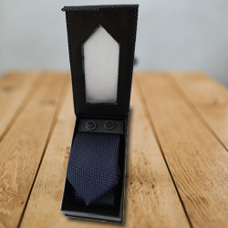 Prismatic Designer Set of Tie and Cufflink