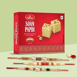 Bhaiyaji The Great Three Rakhi Set With Soan Papdi
