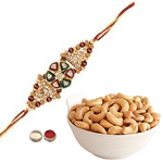 Beautiful Rakhi With Cashews