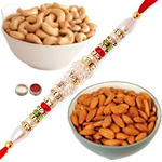 Delectable Almonds , Cashews With Rakhi