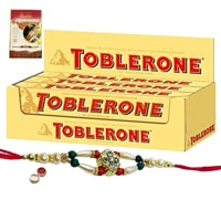 Delightful Toblerone with Free Nice Rakhi, Roli , Tilak and Chawal