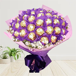 Bouquet of 24 Pcs. Ferrero Roacher Chocolates