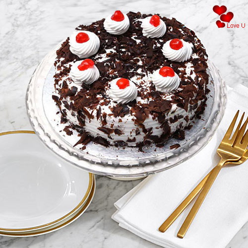 Gift Black Forest Cake for Valentines Day