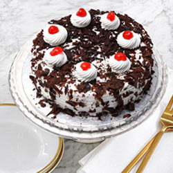 Oven-Fresh Black Forest Cake from Taj or 5 Star Hotel Bakery