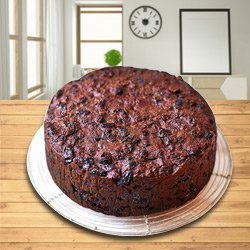 Chocolate-Flavored Plum Cake from Taj or 5 Star Bakery