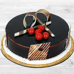 Lavish Dark Chocolate Truffle Cake