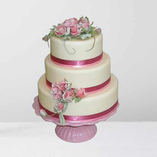Deliver Online Three-Tier Weeding Cake