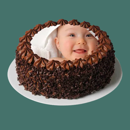 Send Online Chocolate Photo Cake