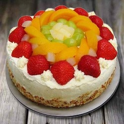 Flavorful Fondle 1 Kg Eggless Fresh Fruit Cake