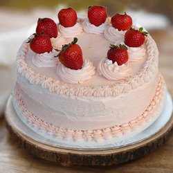 Pleasurable Delight 1 Lb Strawberry Cake from 3/4 Star Bakery