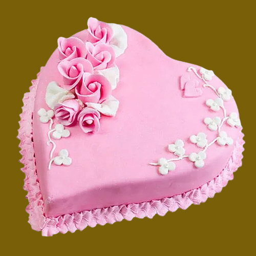 Online Heart Shape Cake from 3/4 Star Bakery