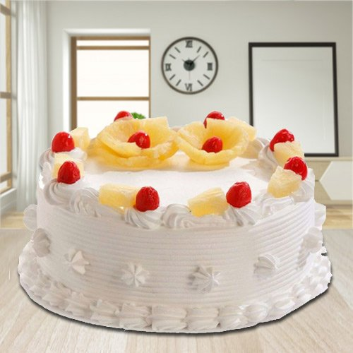 Buy Eggless Pineapple Cake Online from 3/4 Star Bakery