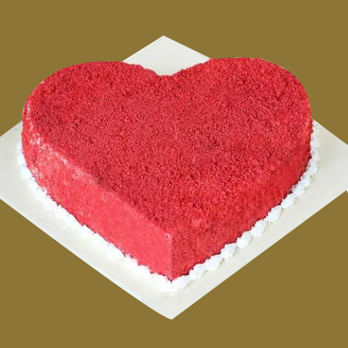 Gift Online Heart Shape Red Velvet Cake