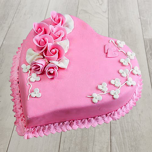 Shop Online Heart-Shape Strawberry Cake