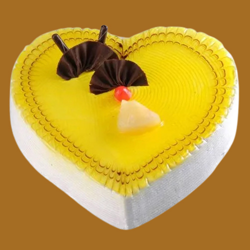 Book Online Heart Shape Pineapple Cake
