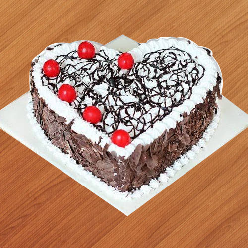 Book Heart Shape Black Forest Cake Online