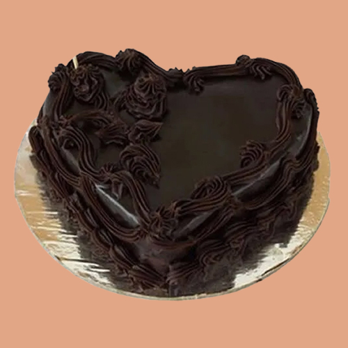 Gift Heart Shape Chocolate Cake Online