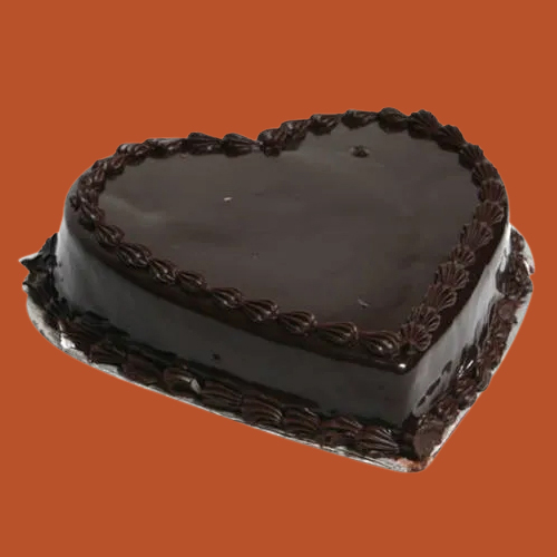 Online Deliver Heart Shape Chocolate Truffle Cake