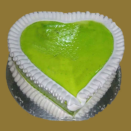 Send Online Heart-Shape Kiwi Cake