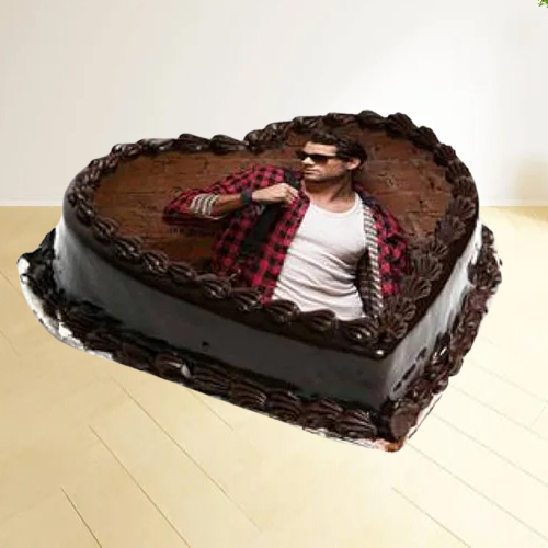Online Deliver Heart Shape Photo Cake