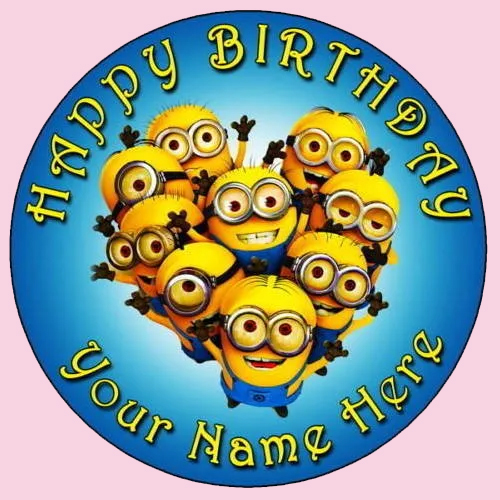 Deliver Kids Minions Photo Cake Online