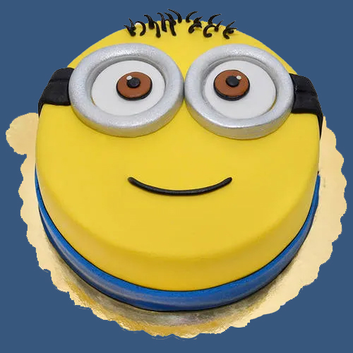 Order Online Kids Happy Minions Fondent Cake