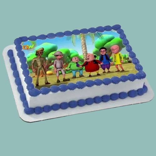 Shop Online Motu Patlu Photo Cake for Kids