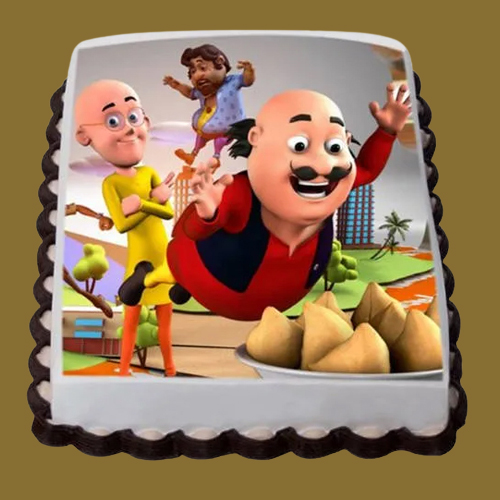 Book Motu Patlu Photo Cake for Kids Online