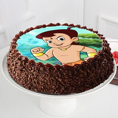 Gift Kids Chota Bheem Photo Cake Online