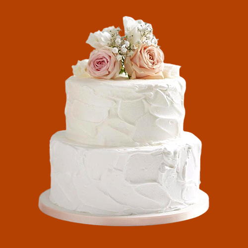 Online Deliver 2 Tier Wedding Cake