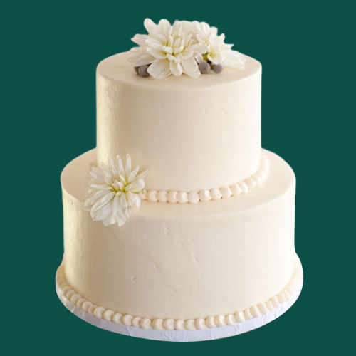 Deliver Online 2 Tier Wedding Cake