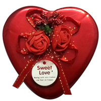 Attractive Red Heart Shaped Box of Assorted Chocolates