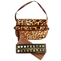 Amazing Leona Sling Bag from Avon With Best Sister Homemade Chocolates