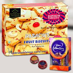 Fruit Biscuits with Assorted Chocolates for Diwali