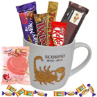 Fantastic Scorpio Sun Sign Printed Mug with Chocolate Assortment