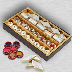 Assorted Sweets with  Diya�