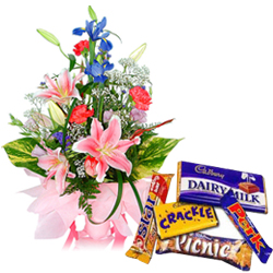 Flowers and Chocolates  to India by India Florist