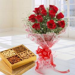 Enchanting Love Bouquet of 12 Red Roses